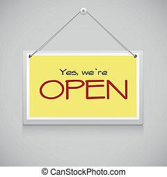rgeöffnete, hängenden zeichen