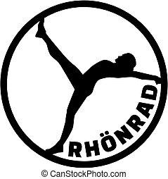 Rhönrad silhouette with word