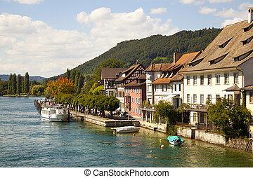Rhein River in Stein Am Rhein Village