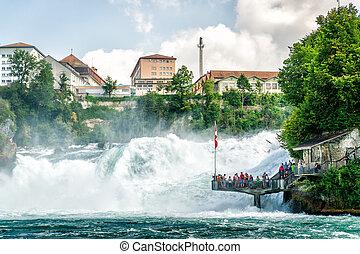 Rheinfall in Swiss - Rheinfall - the biggest Waterfall in...