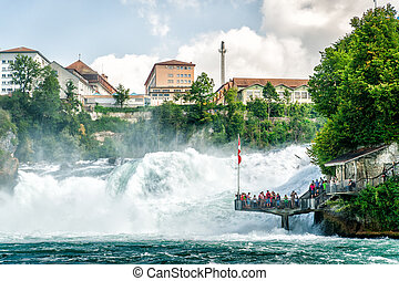 Rheinfall in Swiss - Rheinfall - the biggest Waterfall in...