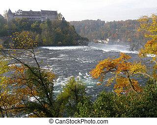 Rheinfall - the biggest waterfall in Europe, Switzerland.