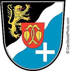 Rheinpfalz kreis coa - Various vector flags, state symbols,...