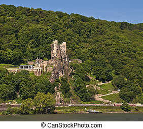 Rheinstein castle in rhine valley - Rheinstein castle in...