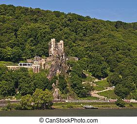 Rheinstein castle in rhine valley - Rheinstein castle in...