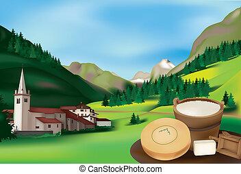 Rhemes Notre Dame, Alpine village in the Aosta Valley, Italy