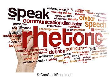 rhetoric, woord, wolk