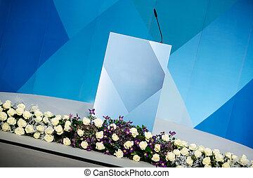 Rhetorical stage, speakers podium - Rhetorical stage...