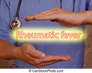Rheumatic fever sign on the piece of paper.