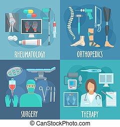 rheumatology, 手術, 整形外科, 療法, アイコン