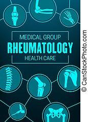 Rheumatology, joints and rheumatic disorder poster - ...