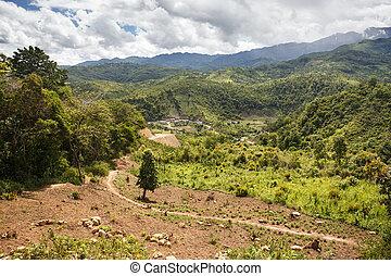 Rhi Village, Myanmar (Burma) - Rhi Village near the Indian...