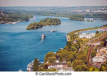 Rhine River in Bingen