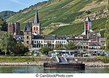 Rhine Valley, Germane - Bacharach is a historical town on...