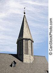 rhine-westphalia, północ, slate., siegen, łupek, kościół,...