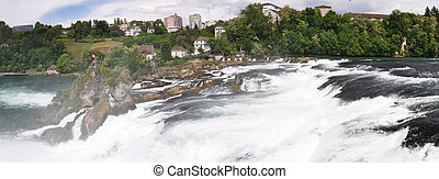 Rhinefall in Schaffhausen, Switzerland, the largest...