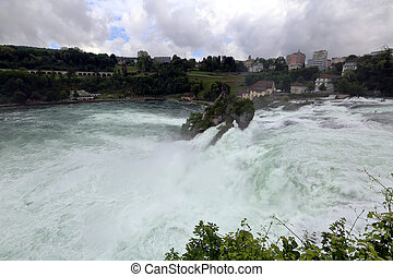 Rhinefall, Schaffhausen, Switzerland - The picturesque...