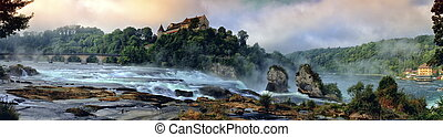 Rhinefalls, Switzerland - Famous big european Rhinefalls in...