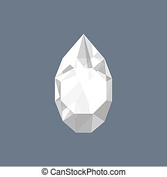 Rhinestone gem shining logo vector drop shaped illustration