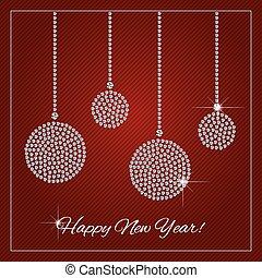 Rhinestone Holiday Season Template - Christmas, New Year...