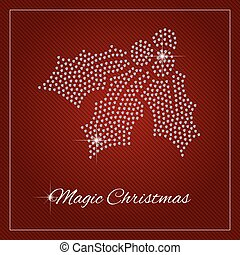 Rhinestone Holiday Season Template - Holly berry, mistletoe....