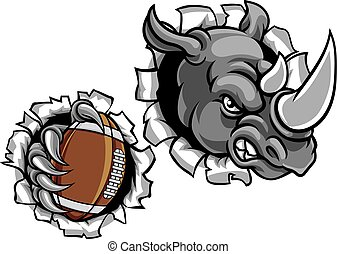 Rhino American Football Ball Breaking Background