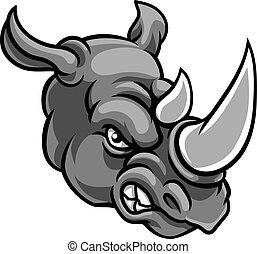 Rhino Angry Sports Mascot