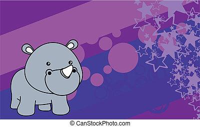 rhino baby cartoon background7