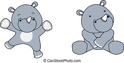 rhino baby cartoon