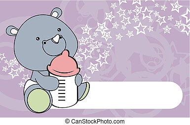 rhino baby cartoon wallpaper