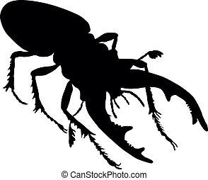 Rhino beetle. Vector eps8