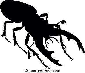 Rhino beetle. Vector eps8