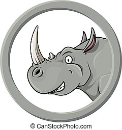 Rhino circle banner