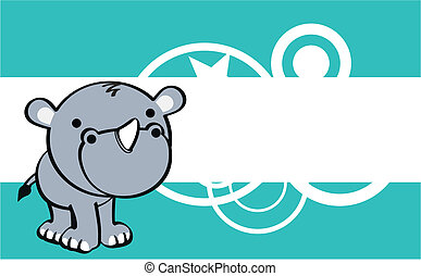 rhino cute baby cartoon background