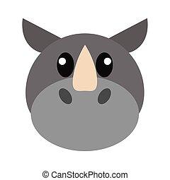 Rhino head cartoon