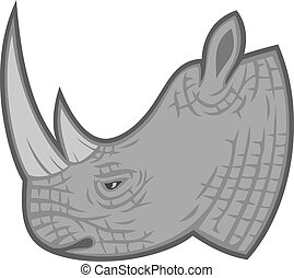 rhino head (rhino design)