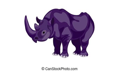 Rhino icon animation best on white background for any design