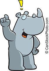 Rhino Idea - A happy cartoon rhino with an idea.