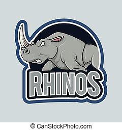 rhino illustration design