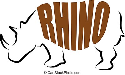 RHINO LETTERING ILLUSTRATION