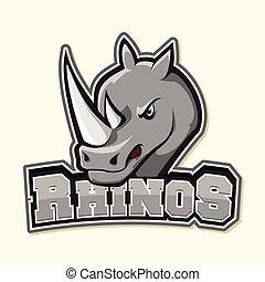 rhino logo illustration design