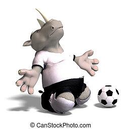 rhino plays soccer / football - funny rhino plays soccer....