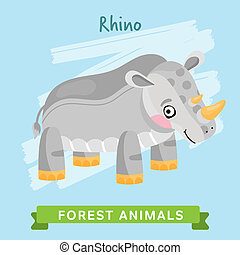 Rhino Raster, forest animals.