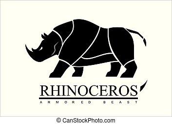 rhino, rhinoceros,