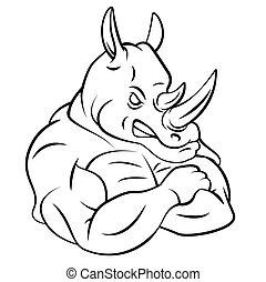 Rhino Strong Mascot