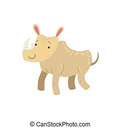 Rhino Stylized Childish Drawing