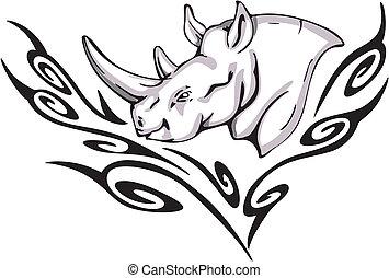 rhino tattoo