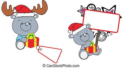 rhino xmas baby claus gift copyspac