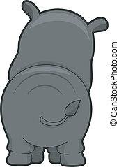 rhinocéros, arrière affichage