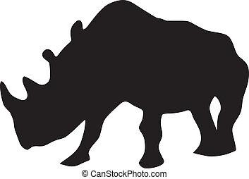 rhinocéros, silhouette